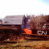 CN GMD-1 1000, VANCOUVER ISLAND, 1988.JP