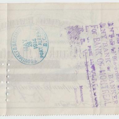 CPR E&N 1914 Cheque 1.JPG