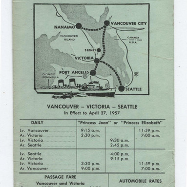 1956 CPR Canadian Pacific Railway BC Ste