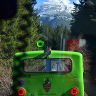 Speeder 16-003 and Mt. Arrowsmith at Summit Lake — MP 21.4