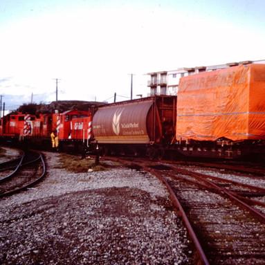 CP UNITS BUILDING TRAIN, VICTORIA, B.C.,