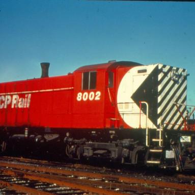 C.P. Rail Locomotive 8002 Nanaimo 1974.J