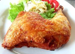 Deep fried Chicken on rice