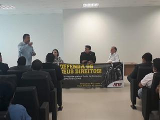 ATEP realiza ato contra a extinção do Ministério do Trabalho