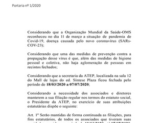 Portaria nº 1-2020 ATEP- COVID