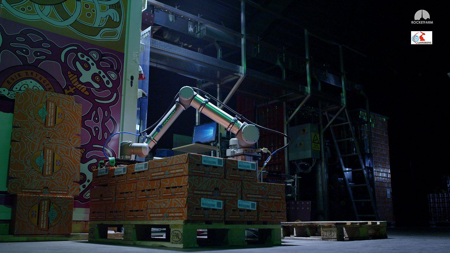 Palettisation et dépalettisation Luxrobotic