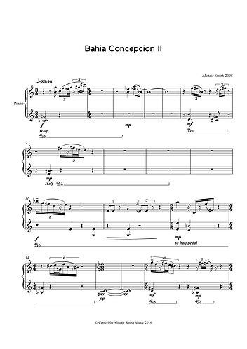 Bahia Concepcion II - for solo piano