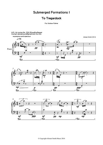 To Tregardock - for solo piano