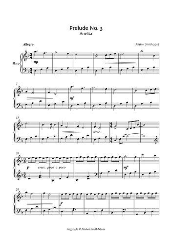 Anelita for solo harp