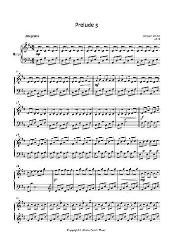 Prelude 5 for Solo Harp