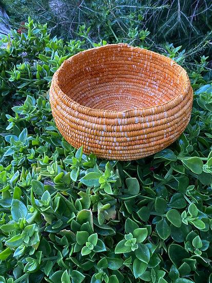 Handwoven Basket (Mustard)
