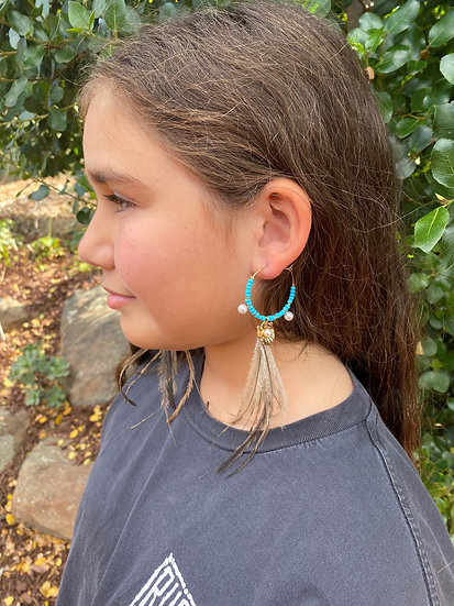 Beaded Emu Ear ring