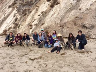 Family beach reuinion