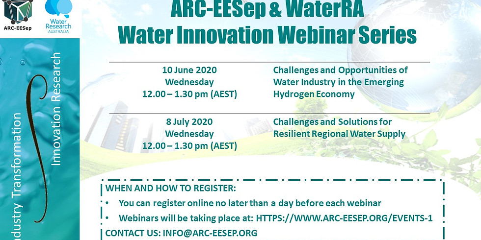 Zoom Webinar: Challenges and Opportunities of Water Industry in the Emerging Hydrogen Economy