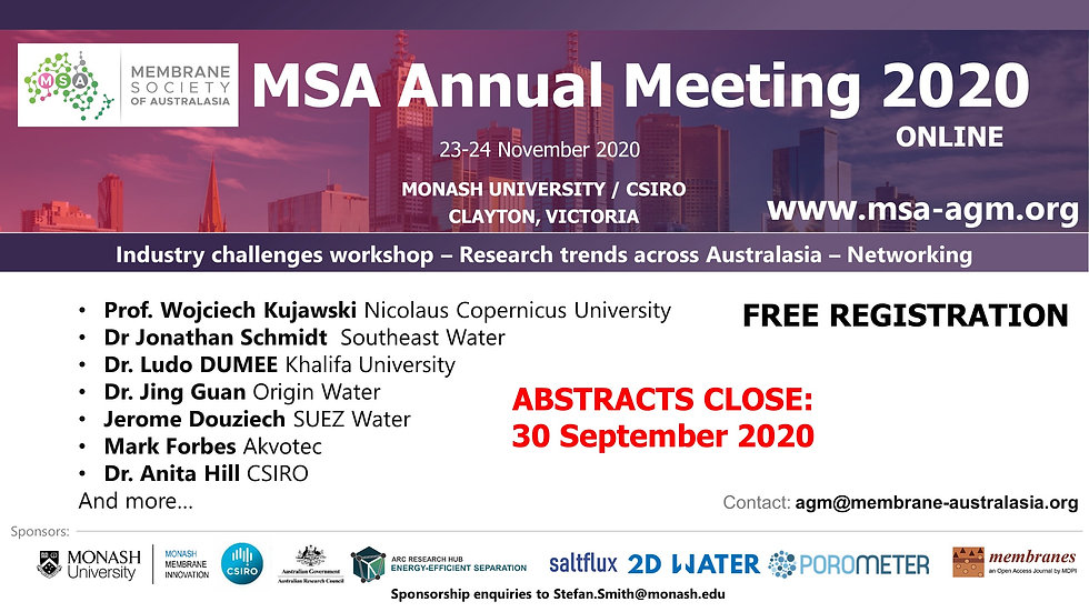 MSA AGM - announcement - Abstracts Closi