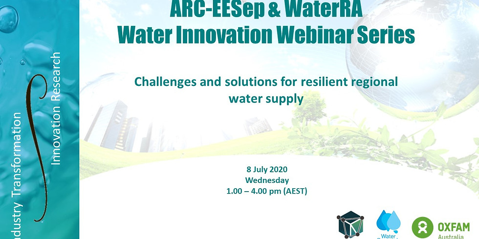 Zoom Webinar: Challenges and Solutions for Resilient Regional Water Supply