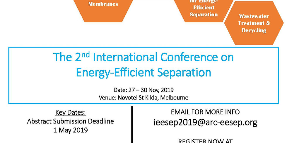 2nd International Conference on Energy-Efficient Separation (iEESEP2019)
