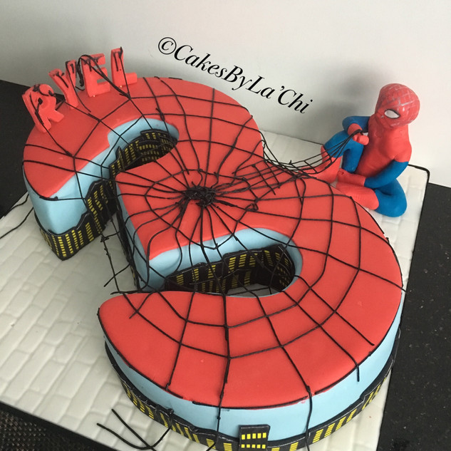 Number 3 Superhero Cake