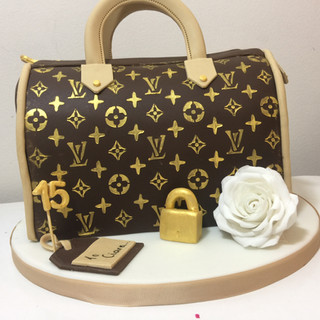 LV Bag Birthday Cake