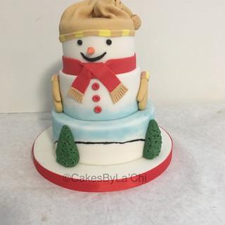 Mini Snowman Cake