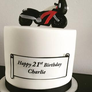 Moterbike Birthday Cake