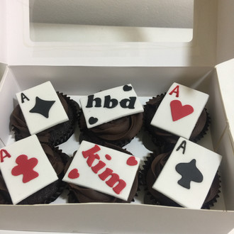 Card Player Cupcakes