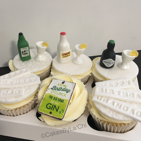 Gin and Tonic Birthday Cupcakes