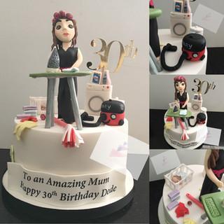 Domesticated Goddess Birthday Cake