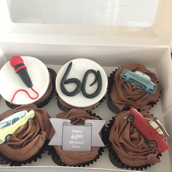Men's Birthday Cupcakes