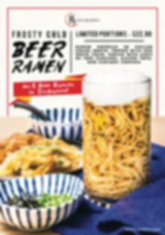 Beer Ramen Poster