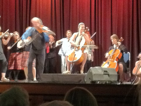 Onstage with Alasdair Fraser and Natalie