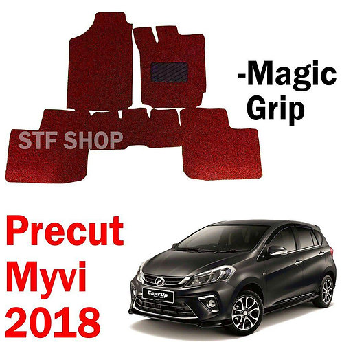 Perodua Myvi 2018 Gear Up OEM Precut PVC Carpet Karpet 12MM+- Magic Grip