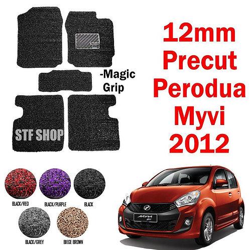 Perodua Myvi Lagi Best 2012-2016  OEM Precut PVC Carpet Karpet 12MM+- Magic Grip