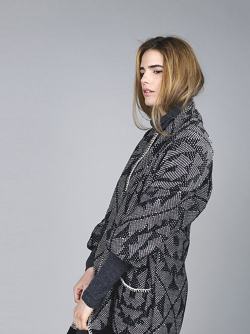 Cotton Printed Overcoat