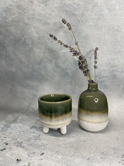 Ceramic Glaze Vase Green