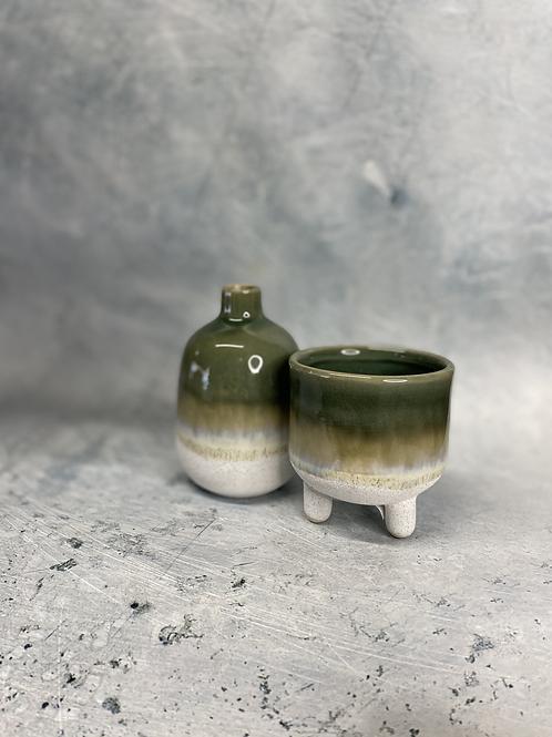 Ceramic Green Planter