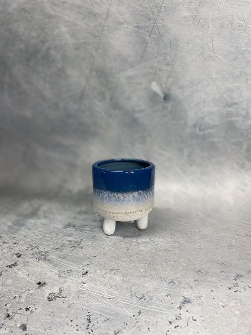 Mini Ceramic Planter Blue