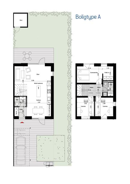 Type A rækkehus i Ishøj