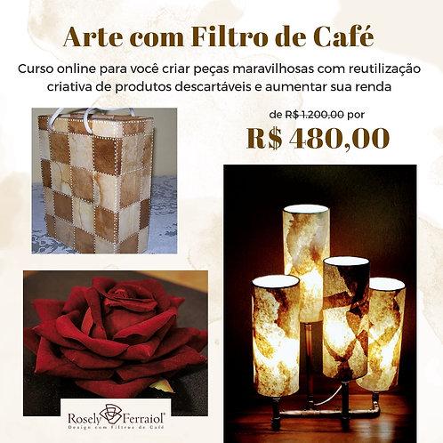 Curso on line Arte com Filtro de cafe