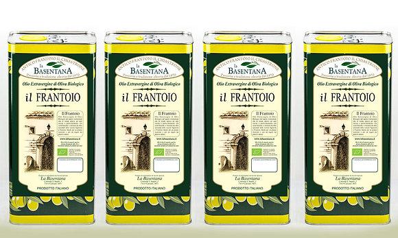 il Frantoio 4 lattine x 5 litri estratto a freddo biologico fruttato medio