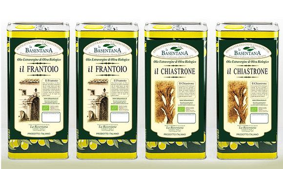 Assortimento Chiastrone 2 x 5 l Fruttato intenso, Frantoio 2 x5 l Fruttato medio