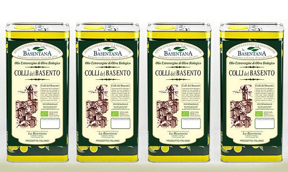 Colli del Basento 4 lattine x 5 litri estratto a freddo biologico