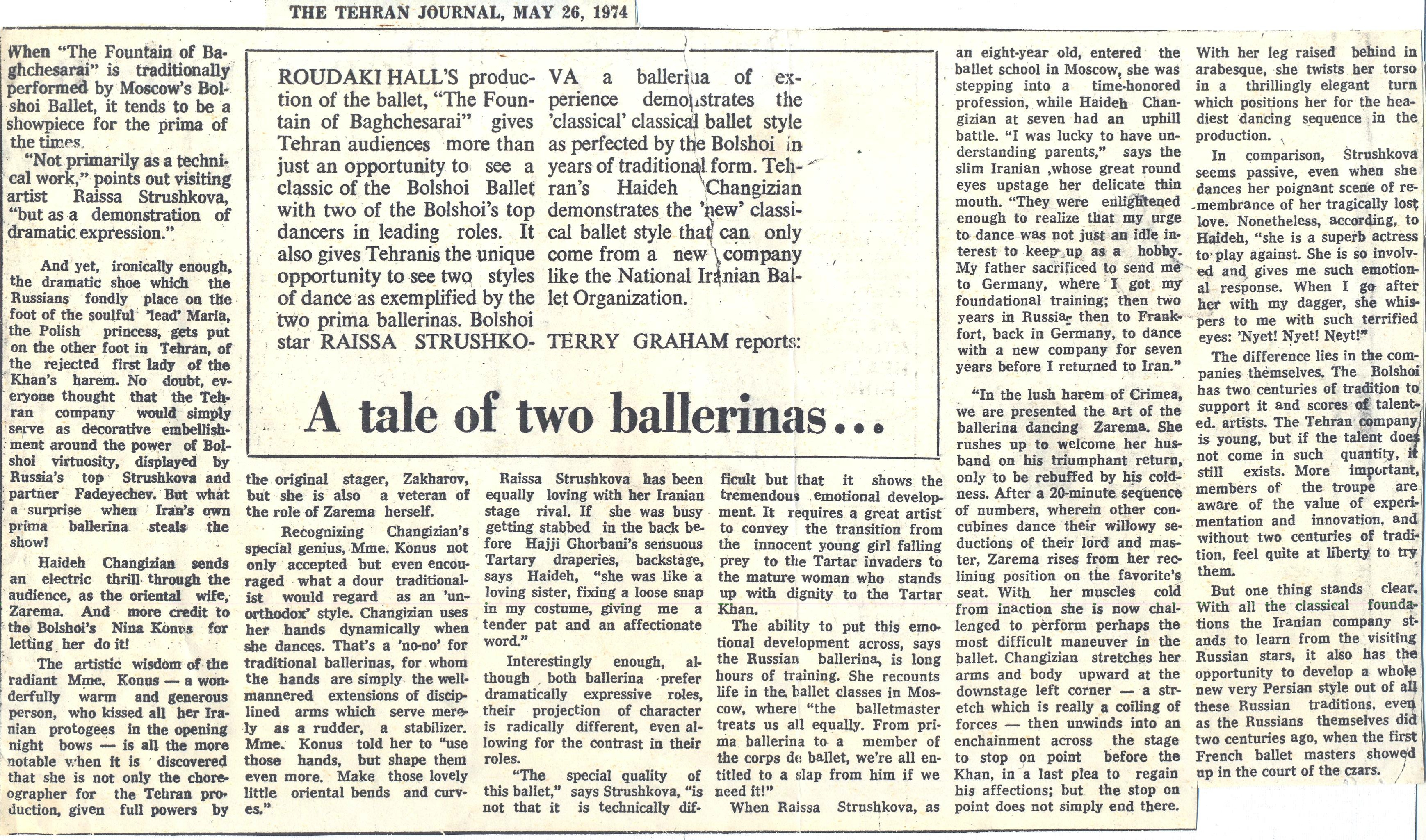 Tehran Journal, 1974