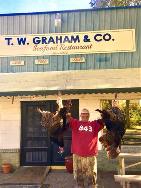 Wild turkey exploits with Patrick Runey of T. W. Graham & Co.