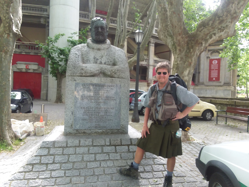 Prioleau posing on the Camino