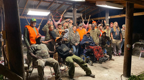 A convergence of characters at the hunting club