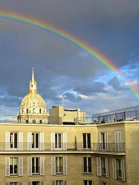 April in Paris, rain, rainbows and all