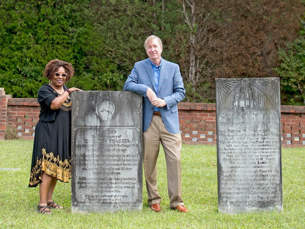 Linda Reid and Bill Fitzpatrick at Cedar Springs ARP, Abbeville.