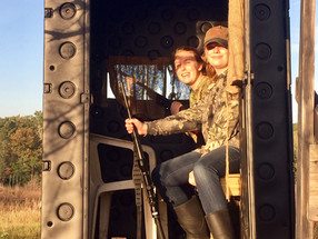 Father and daughters hunting in Salley