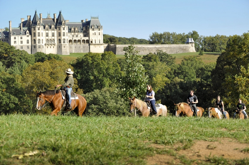 Riding the trail at Biltmore. Image courtesy Biltmore Place.